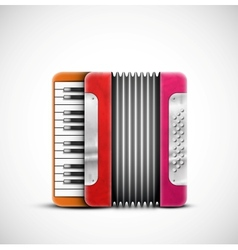 Colorful accordion vector image vector image