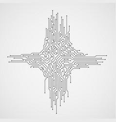 digital engineering concept computer vector image
