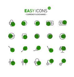 easy icons 10d exchange vector image