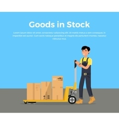 Goods in Stock Banner Design Flat vector image