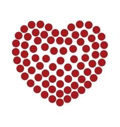 heart love dots shape romantic design vector image