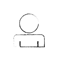 Man profile pictogram vector image