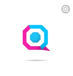 Q letter logo template vector image vector image