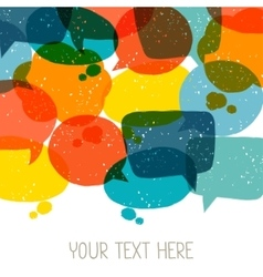 Background with abstract retro grunge speech vector image vector image