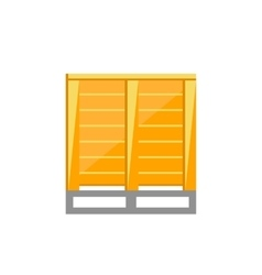 Cargoes on pallets vector image