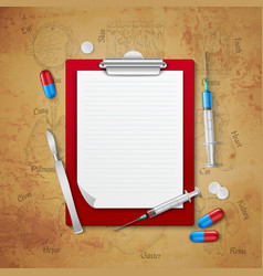 doctors notebook medical composition vector image