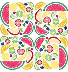 Fruit collection vector image vector image
