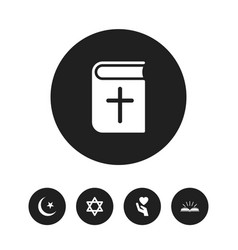 set of 5 editable faith icons includes symbols vector image vector image