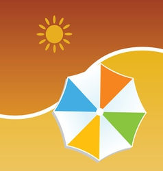 summer with umbrella color vector image