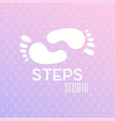 logo of center of healthy feet human footprint vector image vector image