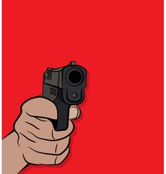 Person Holding and Shooting a Pistol Hand Gun vector image
