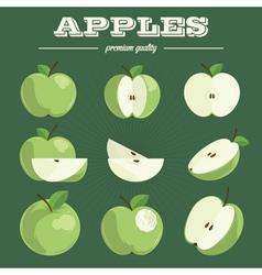 Apple sethand drawn apples vector