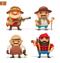 farm professions set-2 vector image vector image