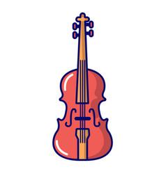 violine icon cartoon style vector image