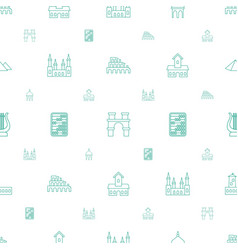 Ancient icons pattern seamless white background vector