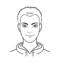 Avatar of a man with red hairavatar and face vector