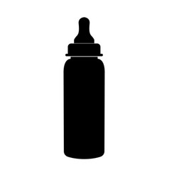 Baby bottle symbol black color icon vector
