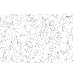 Background black and white polygon vector image