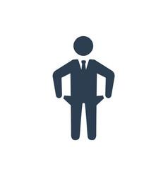 Bankruptcy financial loss icon vector