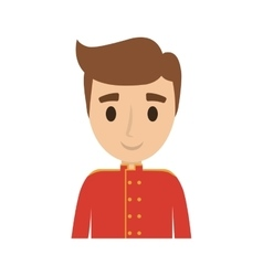 Bellboys worker avatar isolated vector