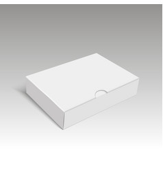 blank of cardboard box packing for gift vector image