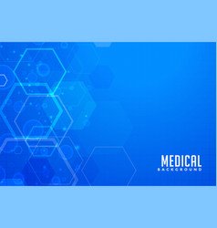Blue medical background with hexgonal shapes vector