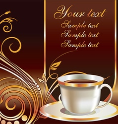 Cafe banner template with text space vector