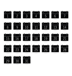 calendar black and white vector image