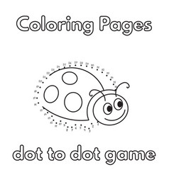 cartoon ladybug coloring book vector image