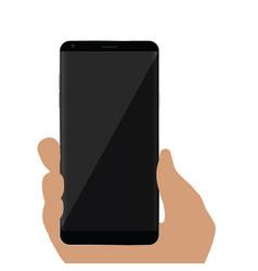 Cellphone in hand vector