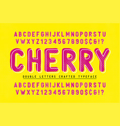 cherry condensed display font popart design vector image
