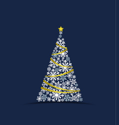 christmas tree made from snow vector image