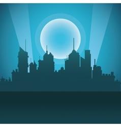 City design building icon night vector