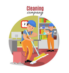 cleaning company template vector image