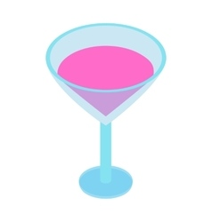 Cocktail isometric 3d icon vector image
