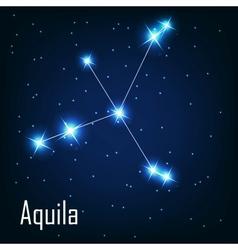 Constellation aquila star in the night sky vector