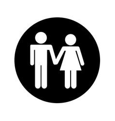 Couple figure silhouette icon vector