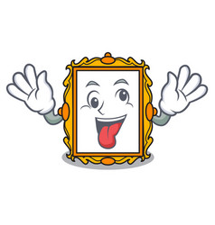 Crazy picture frame mascot cartoon vector