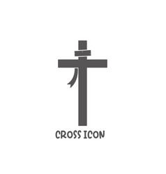 Cross icon simple flat style vector