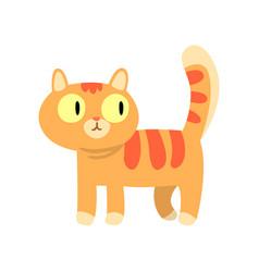 cute red cat cartoon character vector image