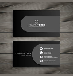 Dark professional business card design vector