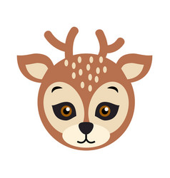 deer carnival mask spotted reindear with horns vector image