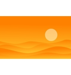 desert on orange backgrounds vector image