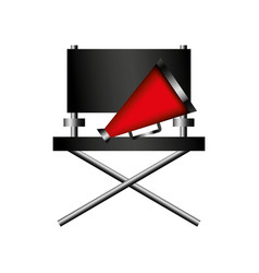 Director chair cinema icon vector