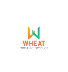 emblem for wheat production vector image