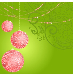 fantasy christmas ball background vector image