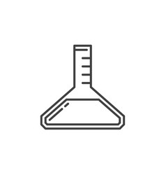 Flask concept icon or symbol in thin line vector