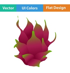 Flat design icon of Dragon fruit vector image