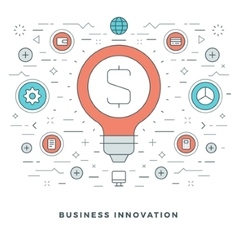 Flat line Business Innovations Concept vector