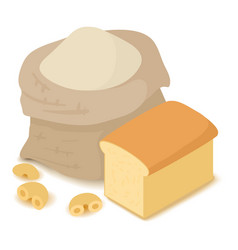 flour icon cartoon isometric 3d style vector image